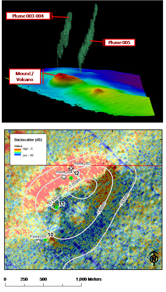 Integration of MBES bathymetry, backscatter and water column data for seep identification