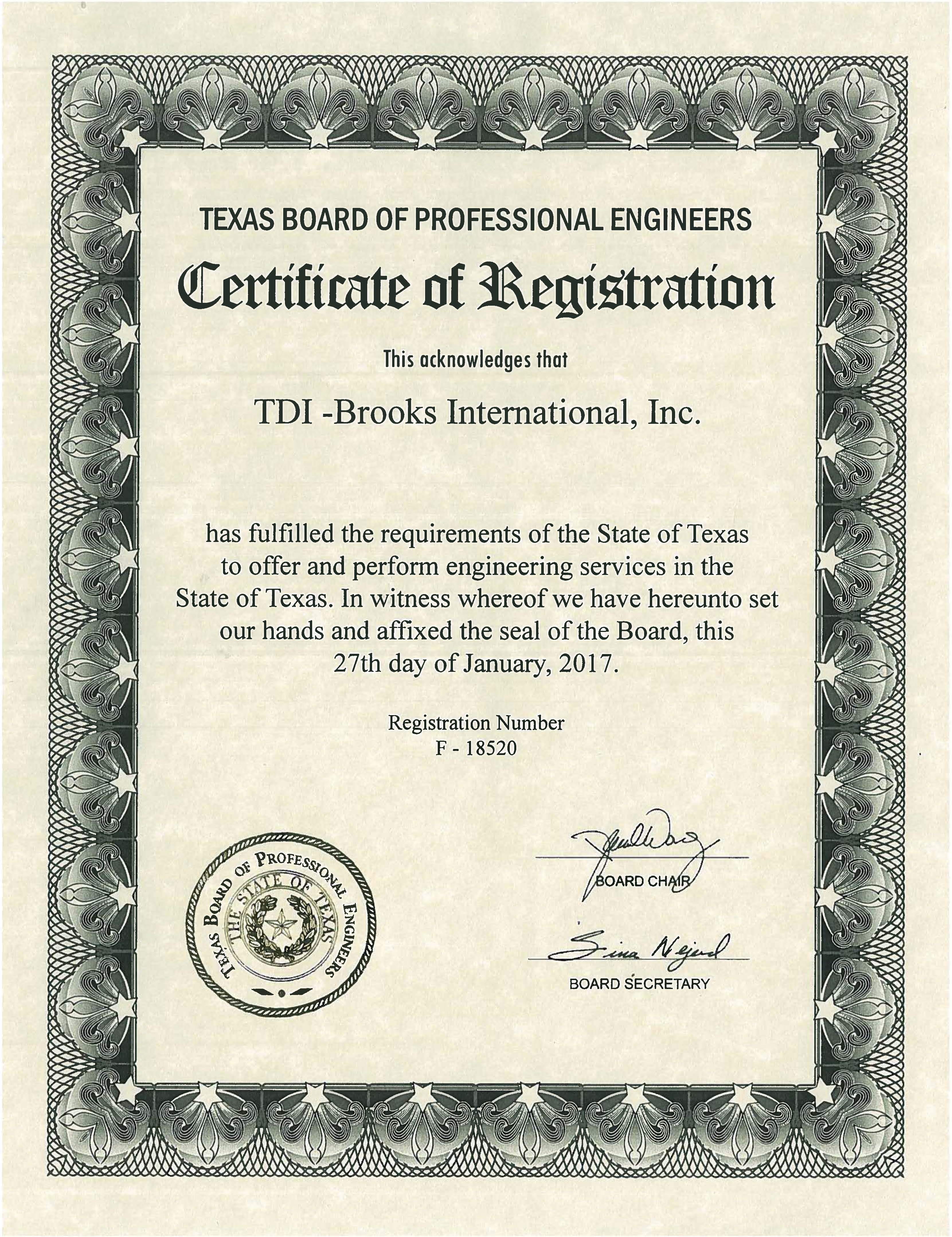 Tdi brooks international acquires engineering firm certification recent posts 1betcityfo Gallery